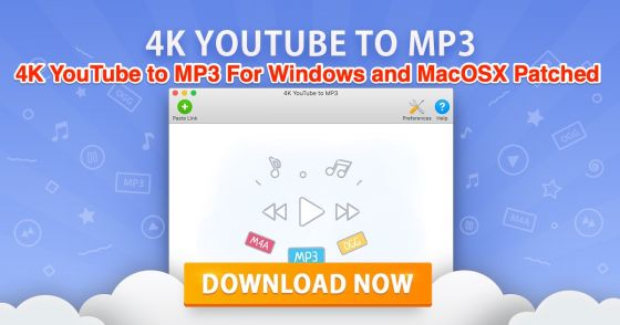 4K YouTube to MP3 medicine for windows and mac